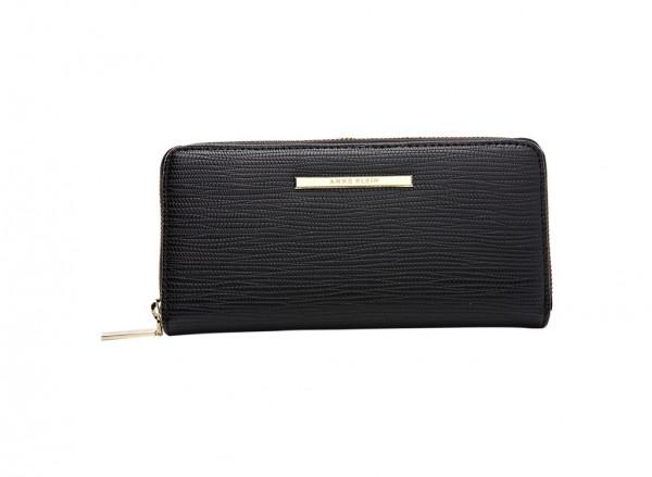 Anne Klein City Dweller Slg Handbag Zip Around For Women - Man Made Black