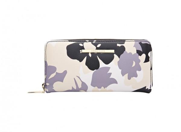Anne Klein City Dweller Slg Handbag Zip Around For Women - Man Made Purple & Pink-AKAK60410487-MULTI