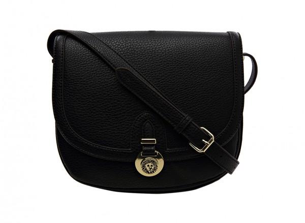 Anne Klein Front Runner Handbag Cross Body Sm For Women - Man Made Black