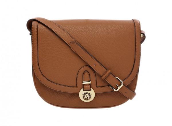 Anne Klein Front Runner Handbag Cross Body Sm For Women - Man Made Brown