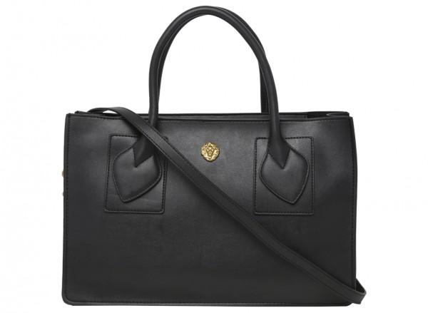 Marlo Black Satchels & Handheld Bags