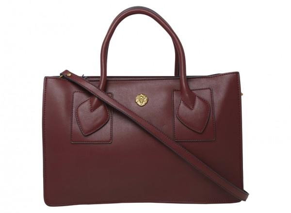 Marlo Red Satchels & Handheld Bags