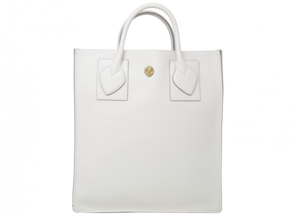 Sandra Shopper White Shoulder Bags & Totes