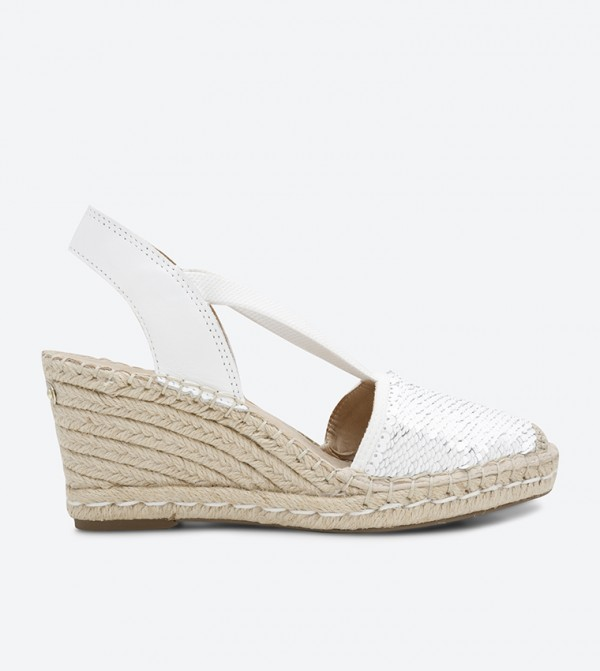 27d539975ed Anne Klein Abbey Espadrille Wedge Sandals - White