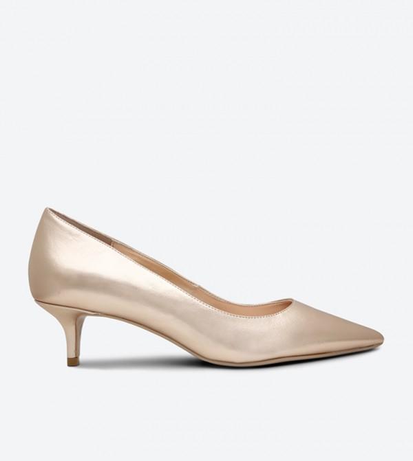 78a6cef49ce3 Dune London Kitten Heel Pumps - Rose Gold