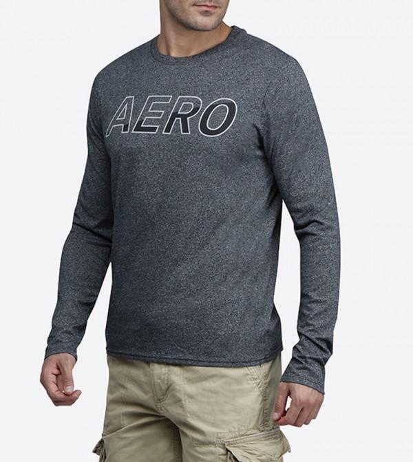 4d3ffcce8 Aero Graphic Long Sleeve T-Shirt - Black AR-6002-1192