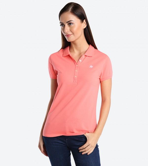 bee8490c Home; A87 Pique Polo Shirt - Pink AR-8017-4163. AR-8017-4163-ARCORAL-883