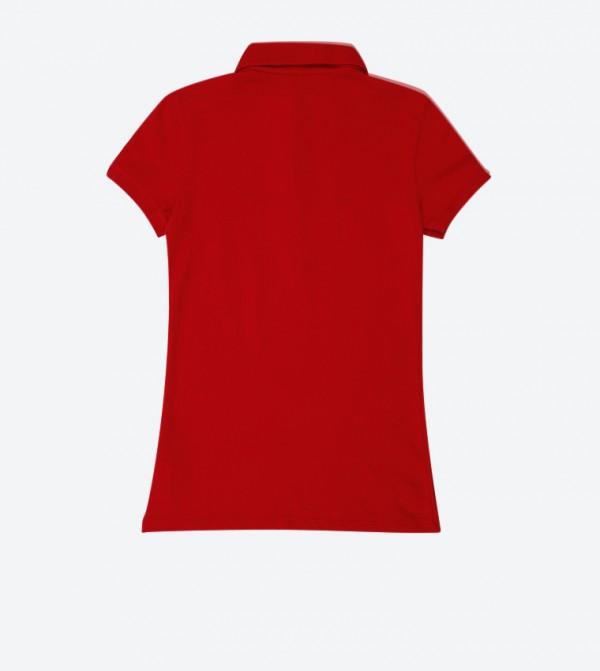 b673b969 Aeropostale A87 Pique Polo Shirt - Red AR-8017-4163