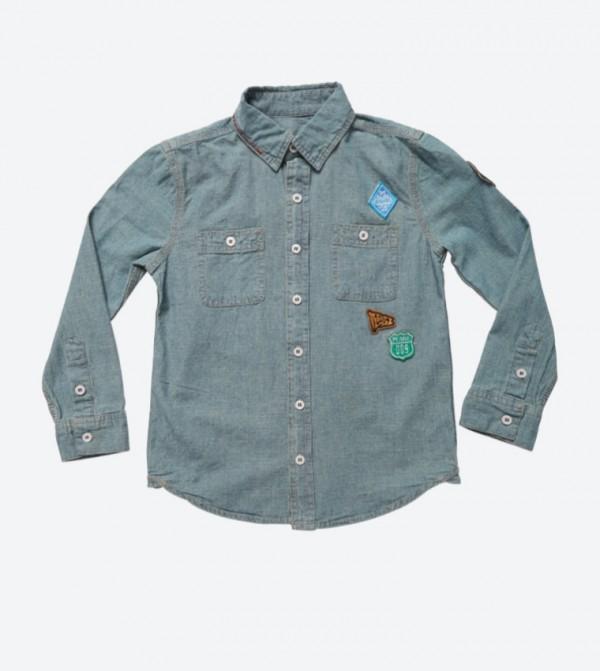 59e7cc00719 Home  Long Sleeve Denim Shirt - Blue AR-9253-9008. AR-9253-9008-ARMED-WASH