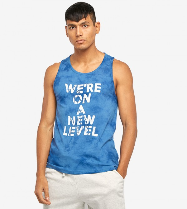 41d7d89e Home; Graphic Printed Sleeveless T-Shirt - Blue. AR60043702S19-BLUE
