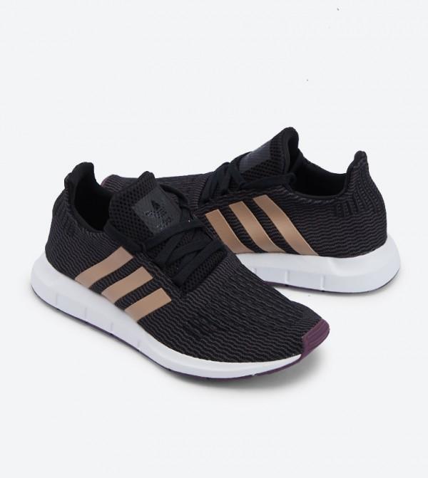 32c9487ca69ea Lace Up Closure Swift Run Shoes - BlackB37717