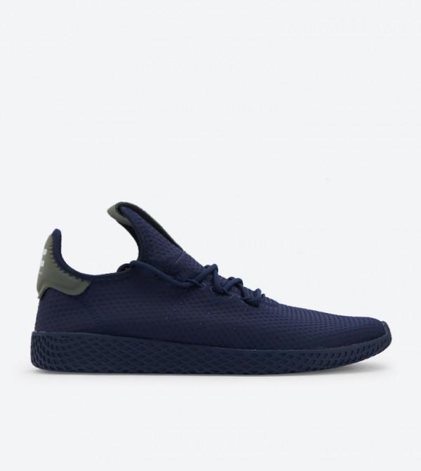 7a610b80711ca Home  Pharrell Williams Tennis Hu Shoes - NavyB41807. B41807-COL-NVY-OFF-WHT
