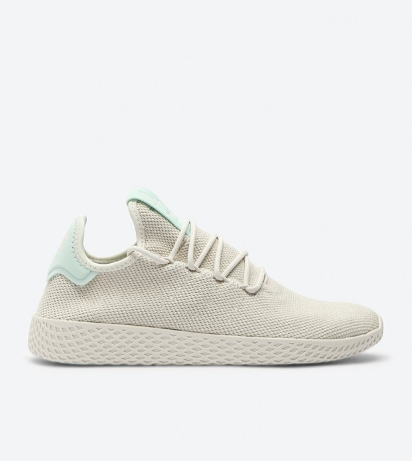 0429d98fc Home  Pharrell Williams Tennis Hu Sneakers - Beige B41885. B41885-TALC -CHALK-WHT