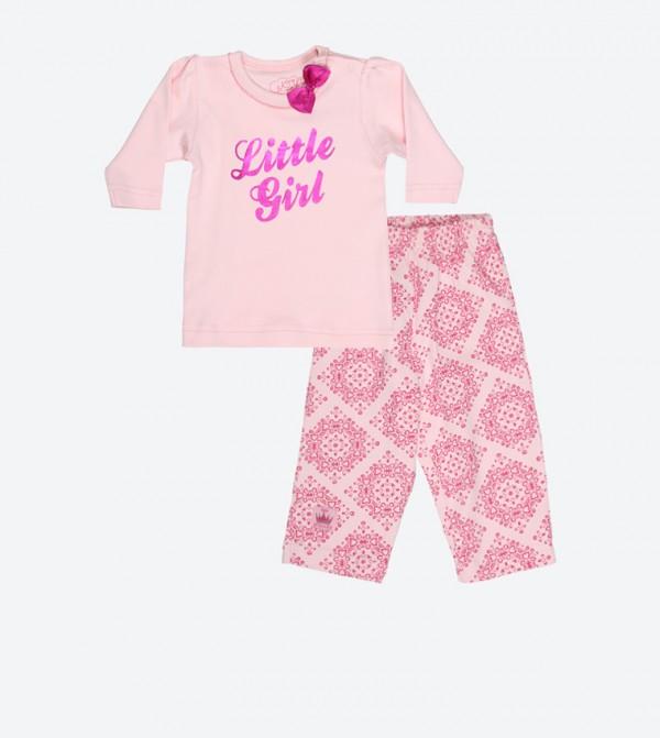 Little Girl Long Sleeve Top - Pink