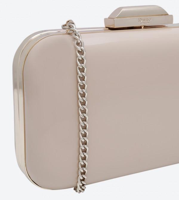 e33579f32c3 Hard Case Box Clutch - Nude