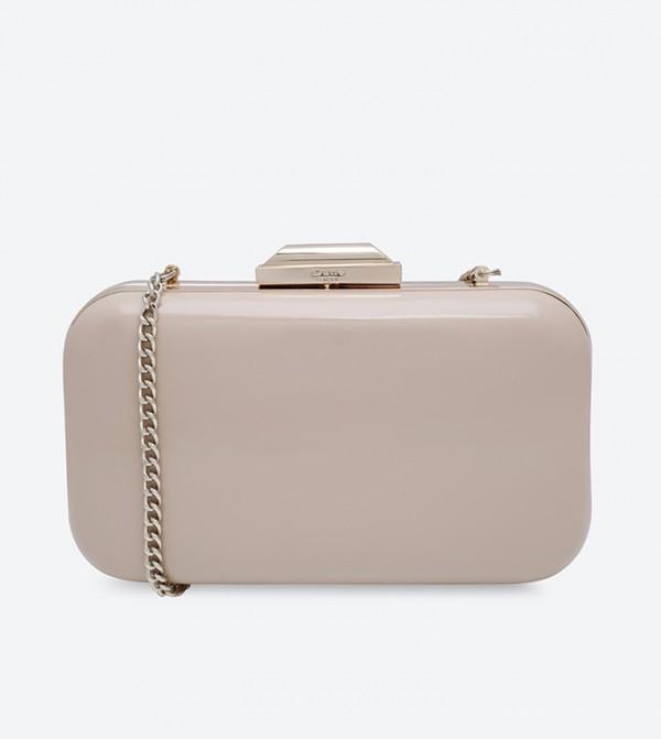 d753c3f4987 Home; Hard Case Box Clutch - Nude. BEVERLIE-DUNUDE-PATENT