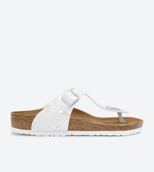 86952570a Birkenstock Gizeh Thong Sandals - Silver BKGIZEH-1008093K