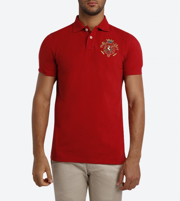 648fce524 Beverly Hills Polo Club Solid Colored Polo Shirt - Red - BP M2698