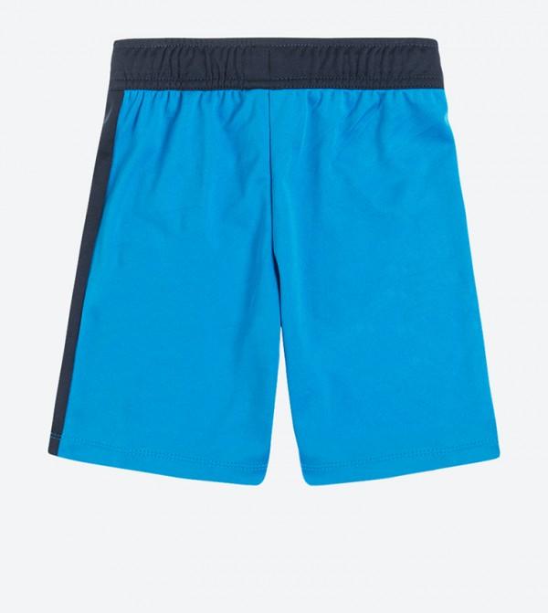 7e16227fb SMYK Drawstring Elastic Waistband Shorts - Blue CCB1612133