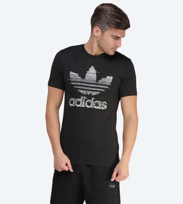 5cc7acbdd1f9 Adidas Originals Traction Trefoil Graphic Printed T-Shirt - Black CE2240