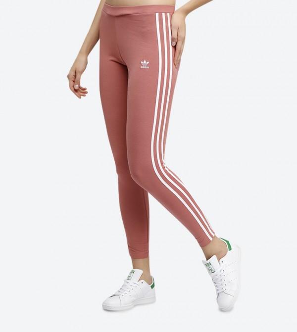 2c2968434e9451 3-Striped Tights - Pink CE2444