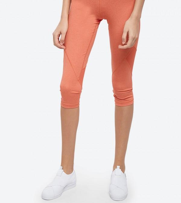 promo code f81f1 eebbc Adidas Mallas 3 4 Alphaskin Sport Heather Tights - Orange CE3971