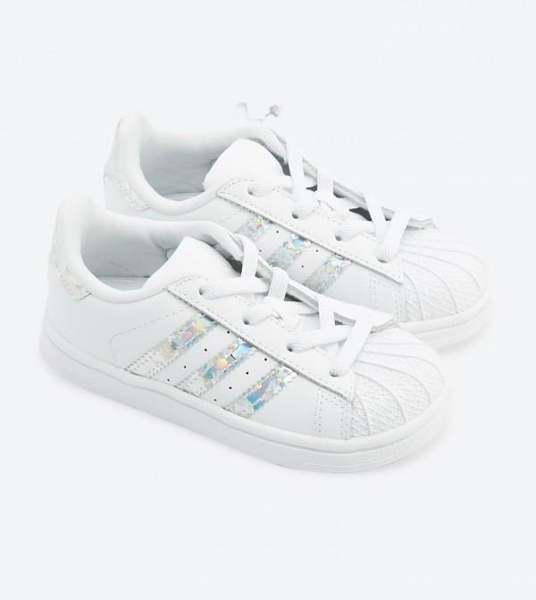 eec34fd74ed Adidas Originals Superstar El Lace Up Closure Sneakers - White CG6707