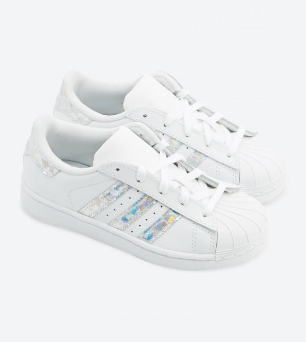 f9eb19ebb56 Adidas Originals Superstar Lace Up Closure Sneakers - White - CG6708 CG6708