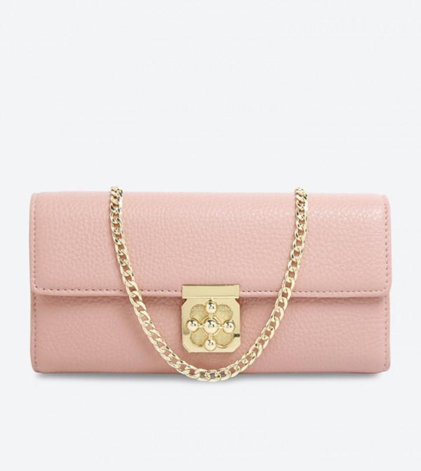 e2ff22bc9928 Charming Charlie Clover Turn Lock Cross Body Bag - Pink CH 5090020984