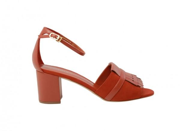 Orange Mid Heel