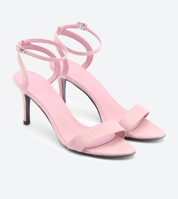 Ankle Strap Heeled Sandals - Pink CK1-70060375