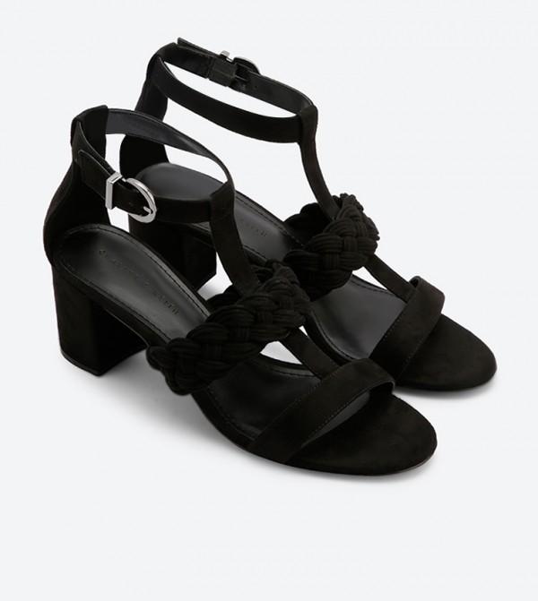 7916f41b419f Braid Detail Caged Heeled Sandals - Black CK1-60050784