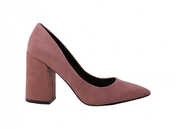حذاء وردي بكعب عالي