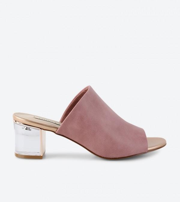 b17df112d10 Charles   Keith Lucite Heel Mule Sandals - Pink