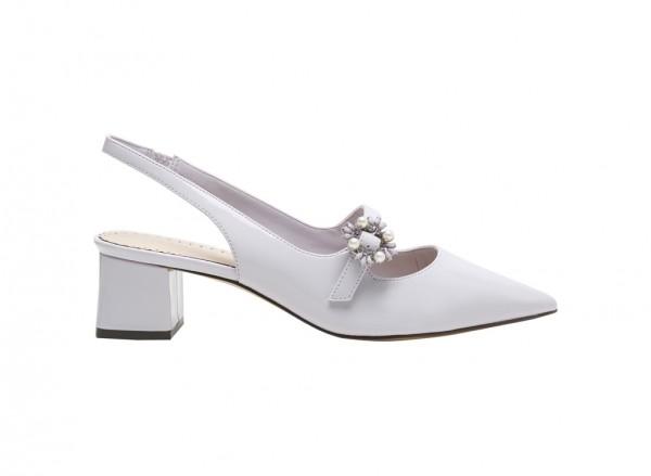 Off White Medium Heel