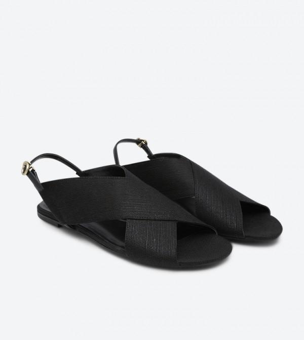 f1d5d272f30f Criss Cross Slingback Sandals - Black CK1-70060369