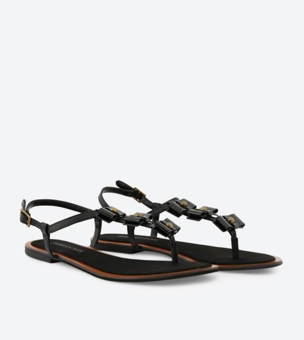 019d0d1f5 Bow Thong Sandals - Black