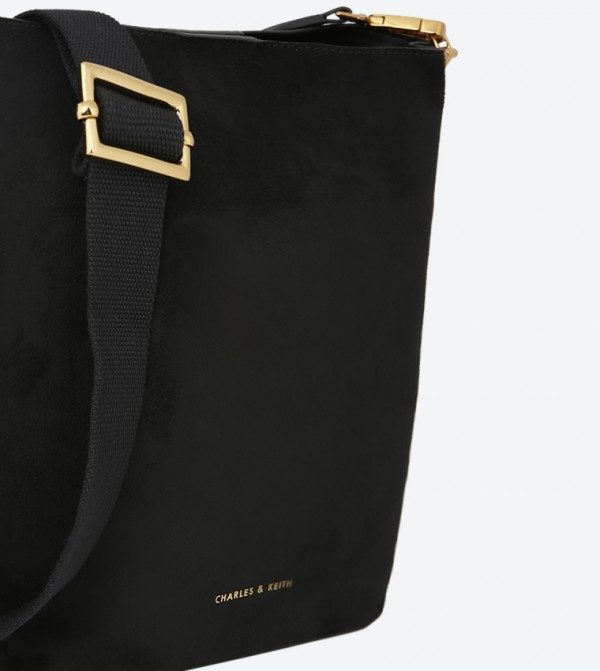 17bfe478abf1 Soft Bucket Cross Body Bag - Black