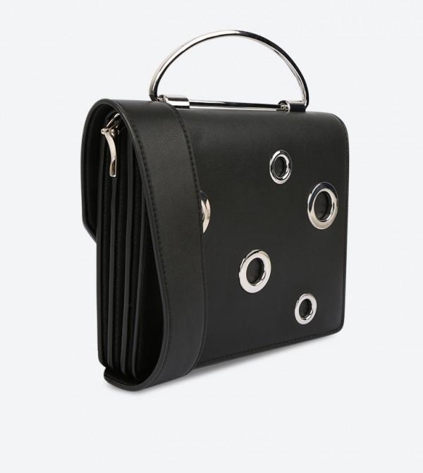 d7b4e05d769e Charles   Keith Grommet Detail Cross Body Bag - Black