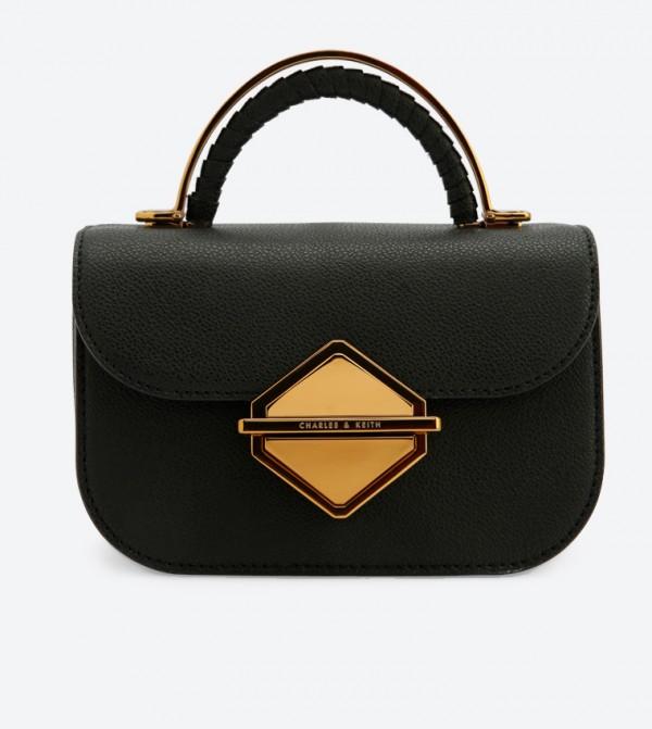 9a50d149b حقيبة بحمالة كتف طويلة لون أسود