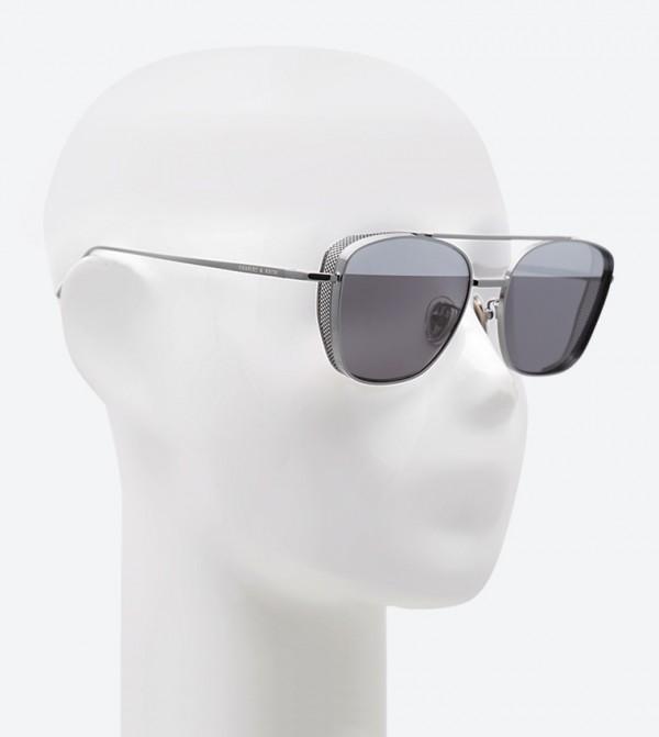 0beb105895 Angular Frame Aviator Sunglasses - Grey