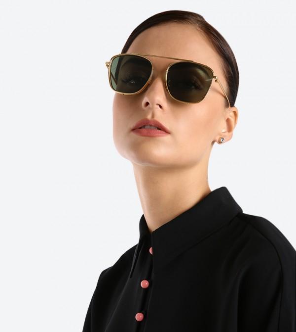 5e7aa136c9dc Thin Frame Square Shades Sunglasses - Gold CK3-51280313