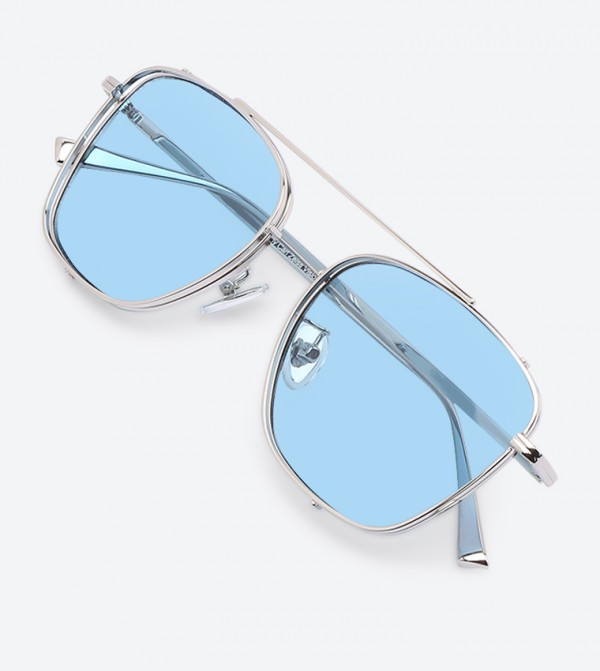 197d250b22cb Thin Frame Square Shades Sunglasses - Silver CK3-51280313