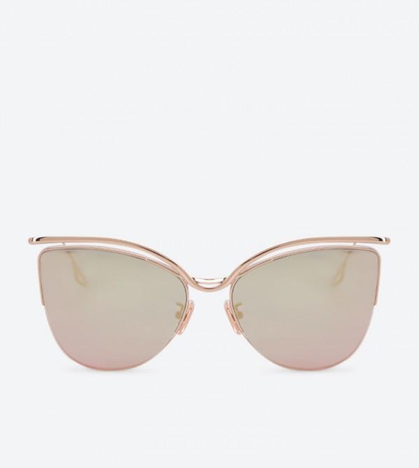 fd8e52a2877e8 Home  Wire Frame Cat Eye Shades Sunglasses - Rose Gold. CK3-91280337-ROSE- GOLD