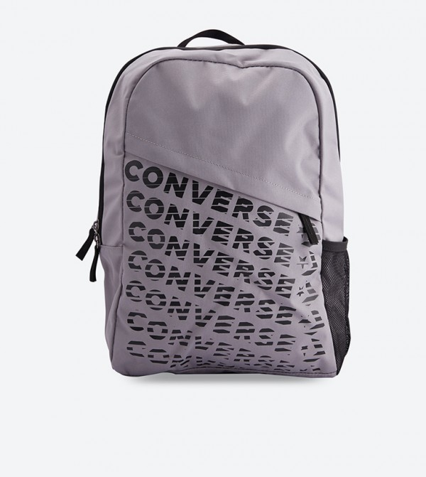 bd6189d92b2 Converse Brand Name Printed Side Pocket Speed Backpack - Grey