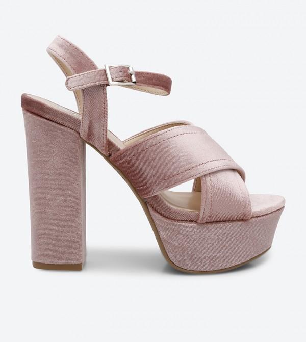 193e799c712 Home  Crush Block Heel Sandals - Blush. CRUSH-02-BLUSH-VELVET