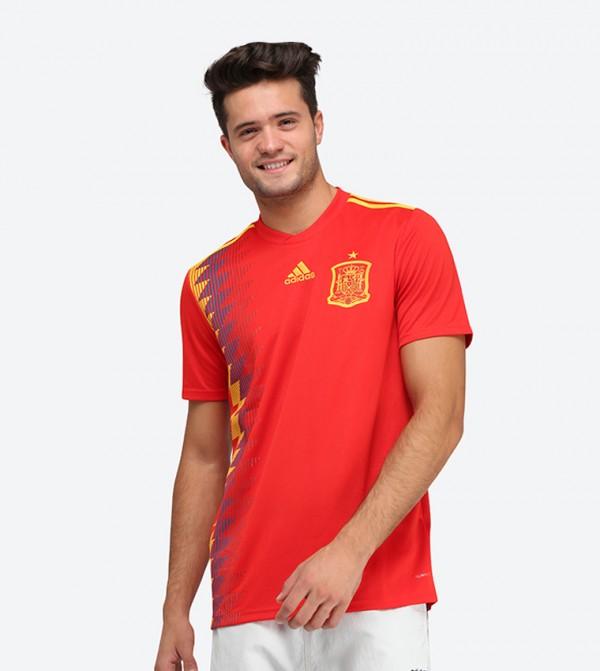90b8fc88a قميص اسبانيا بلون أحمر