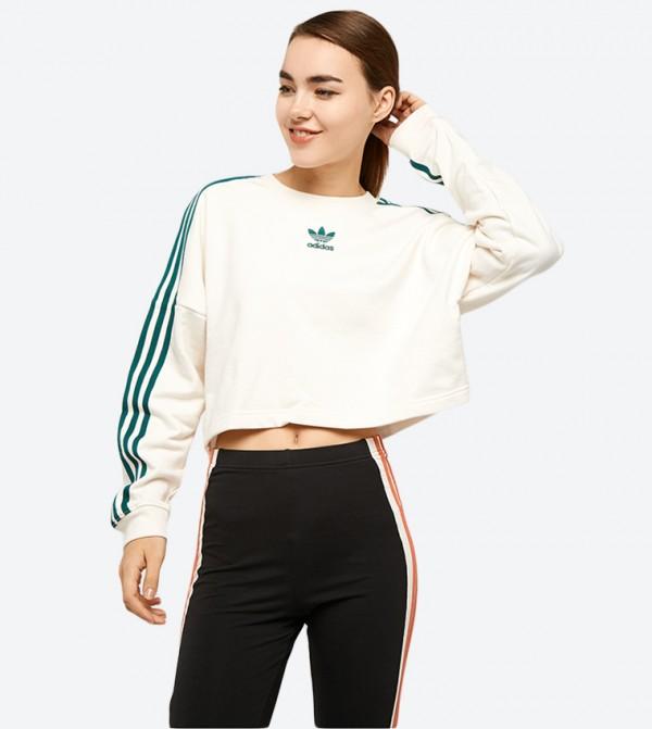 a70c1cba8f71 Adibreak Cropped Sweatshirt - White DH4674