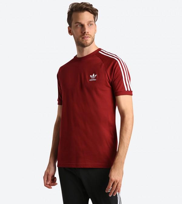 a29207ecae Home; 3-Stripes Short Sleeve T-Shirt - Burgundy DH5810. DH5810-COL-BURGUNDY