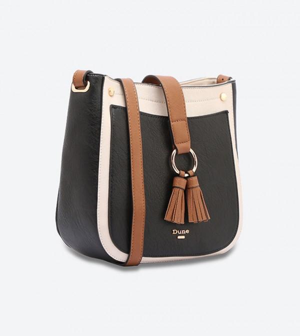 4c4f529755 Small Double Tassel Cross Body Bag - Black DOORY